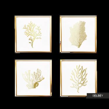Zestaw czterech plakatów Koralowce