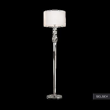 Lampa podłogowa Crystal biała
