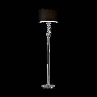 Lampa podłogowa Crystal czarna