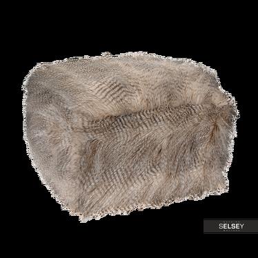 Pufa z długim włosiem Pavia 50x50x26 cm