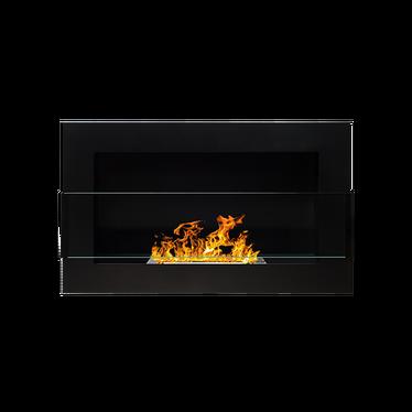Biokominek Astralis 65x40 cm z certyfikatem TÜV Czarny strukturalny