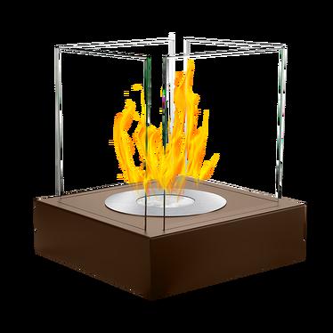 Biokominek Cube Brąz strukturalny