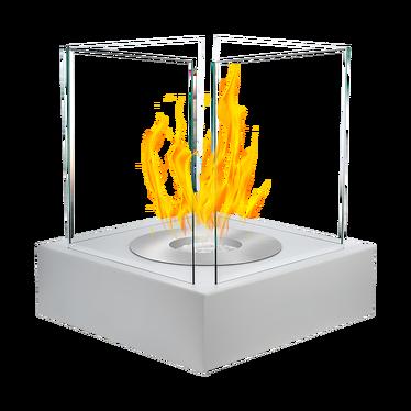Biokominek Cube Biały strukturalny