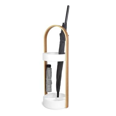 Stojak na parasole Hub naturalny - biały