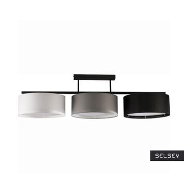 Lampa wisząca Harmony czarno-szaro-biała x3