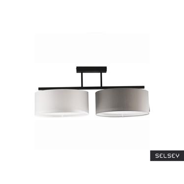 Lampa Harmony x2 szaro-biała