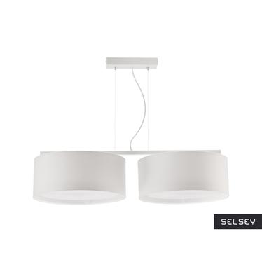 Lampa wisząca Harmony biała x2 długa