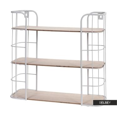 Półka Wopo 50 cm biała trzy poziomy