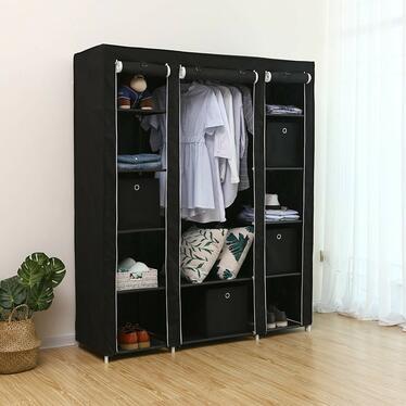 Szafa Textil 150 cm czarna