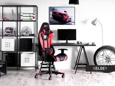 Fotel gamingowy Racer GTR czarno - czerwony z poduszkami