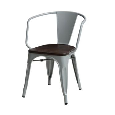 Krzesło Paris Arms Wood szare sosna szczotkowana