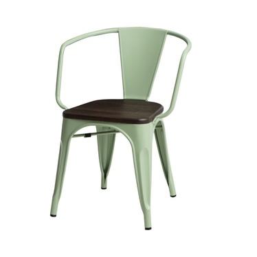 Krzesło Paris Arms Wood zielone sosna szczotkowana