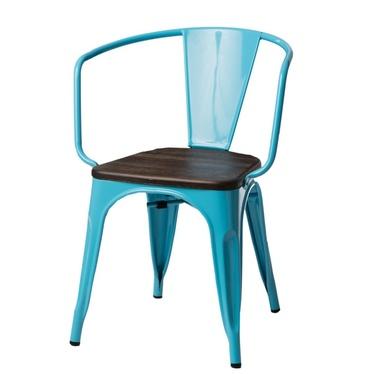 Krzesło Paris Arms Wood niebieskie sosna szczotkowana
