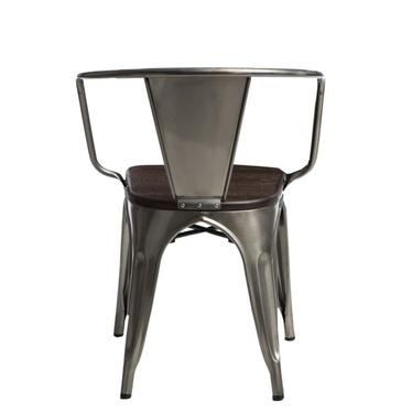 Krzesło Paris Arms Wood metaliczne sosna szczotkowana