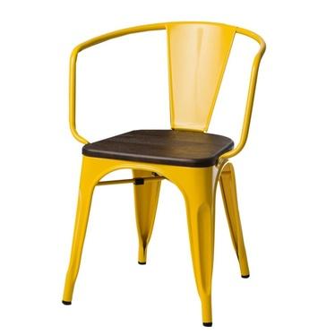 Krzesło Paris Arms Wood żółte sosna szczotkowana