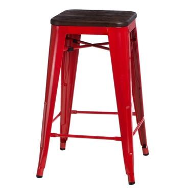 Hoker Paris Wood 65 cm czerwony - sosna szczotkowana