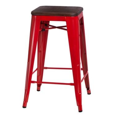 Hoker Paris Wood 65 cm czerwony - orzech