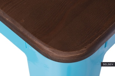 Hoker Paris Wood 65 cm niebieski - orzech