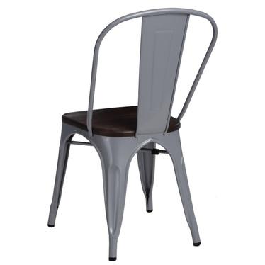 Krzesło Paris Wood szare - sosna szczotkowana