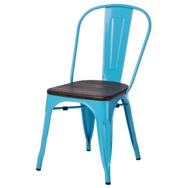 Krzesło Paris Wood niebieskie - sosna szczotkowana