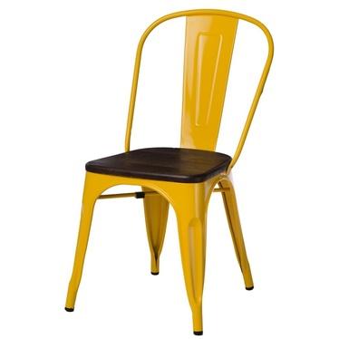 Krzesło Paris Wood żółte - sosna szczotkowana
