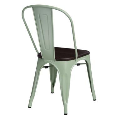 Krzesło Paris Wood zielone - sosna szczotkowana