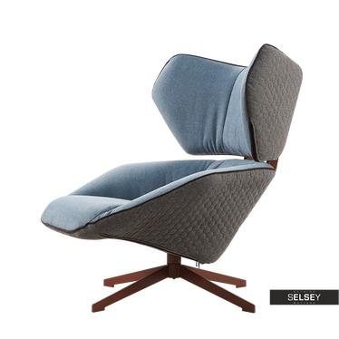 Fotel Drinak niebieski