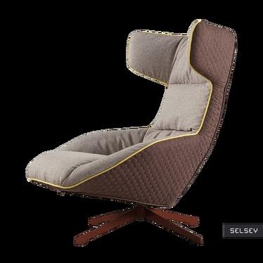 Fotel Soline brązowy