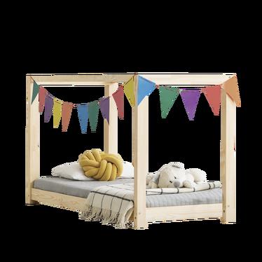 Łóżko Dalida domek z baldachimem