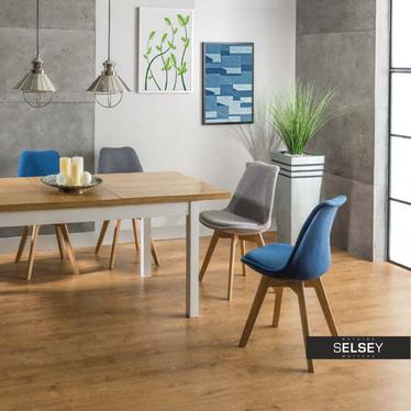 Nowe Krzesło Luis 3 wood niebieskie aleo