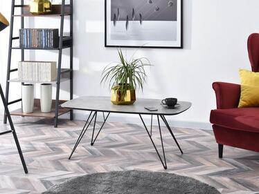 Ława Elyda 110x60 cm beton - czarna