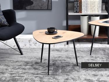 Stolik kawowy Rosin 68x65 cm dąb sonoma - czarny