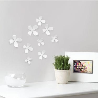 Dekoracja ścienna Wallflower biała