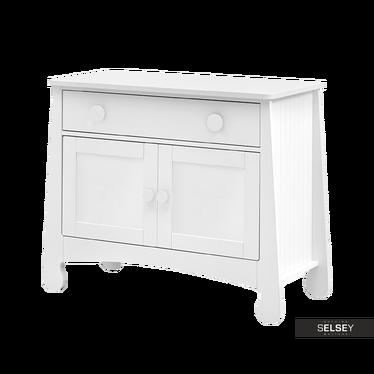 Komoda Parole dwudrzwiowa z szufladą biała