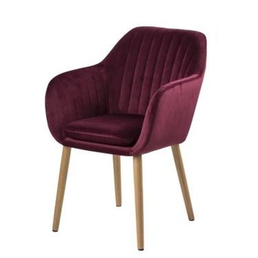 Krzesło Emilia Velvet bordowe  tapicerowane