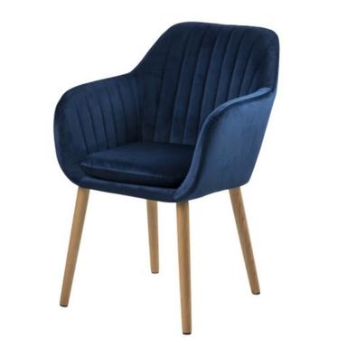 Krzesło Emilia Velvet granatowe tapicerowane