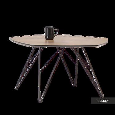 Stolik kawowy Penta 76x75 cm orzech-czarny do nowoczesnego salonu