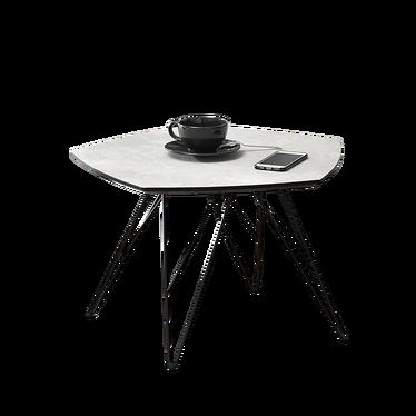 Stolik kawowy Penta 57x56 cm szary marmur - czarny