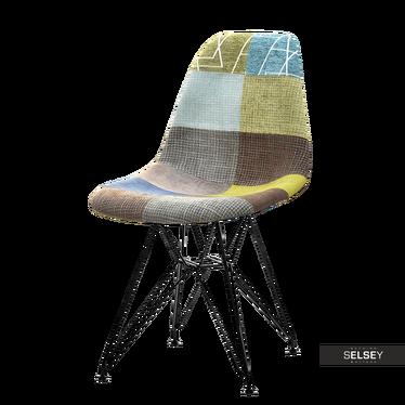 Krzesło MPC rod tap patchwork 3 - czarny