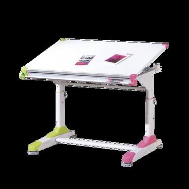Biurko Koli białe z kolorowymi wstawkami