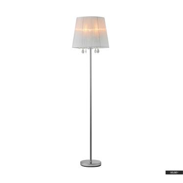 Lampa podłogowa Robinson biała