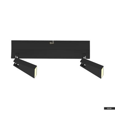 Lampa sufitowa Vanessa czarna x2