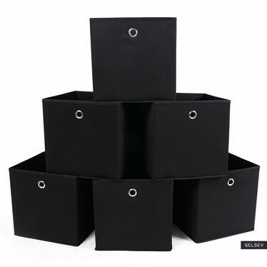 Komplet czterech koszyków Cubik