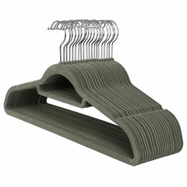 Wieszaki na ubrania Mose 20 sztuk khaki antypoślizgowe z obrotowym haczykiem