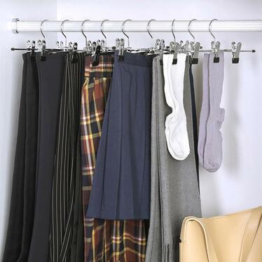 Wieszaki na ubrania Bottom 31 cm 20 sztuk z klipsami na spódnice i spodnie
