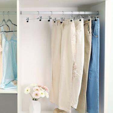 Wieszaki na ubrania Bottom 40 cm 20 sztuk z klipsami na spódnice i spodnie