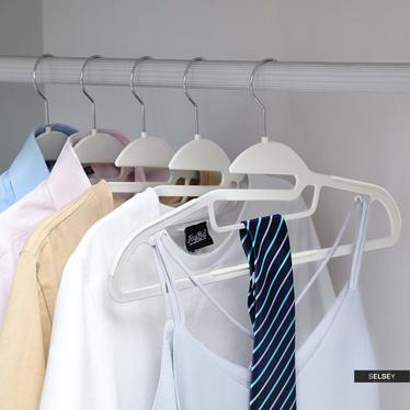 Wieszaki na ubrania Mose 20 sztuk antypoślizgowe z obrotowym haczykiem i miejscem na krawaty