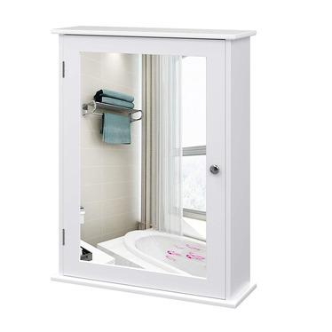 Szafka łazienkowa Luke 41 cm wisząca z lustrem w stylu rustykalnym