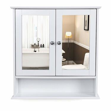 Szafka łazienkowa Luke 56 cm wisząca z lustrem w stylu rustykalnym