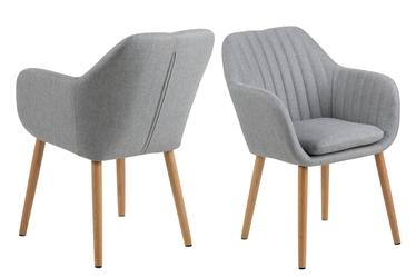 Krzesło Emilia szare jasne na drewnianych nogach